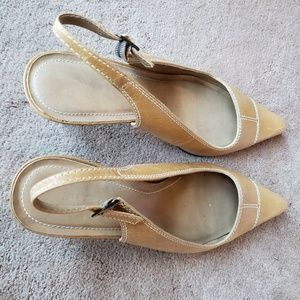 Two Lips Natural Slingback